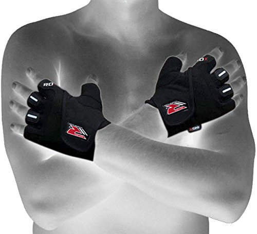 Authentic RDX Gel Weight lifting body building gloves Gym Strap Training Flex Leather