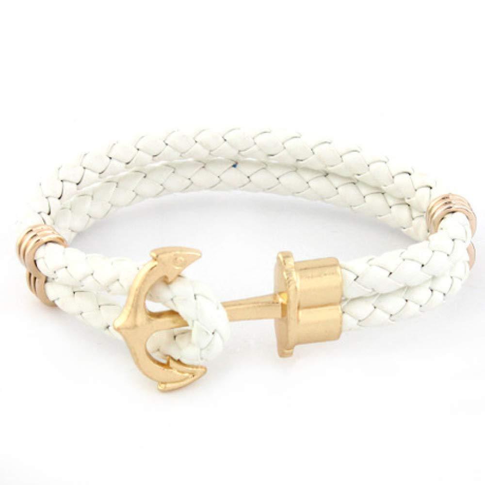 yayoushen 21cm Beaded Bracelet Snake Pattern Anchor Mens Bracelet Jewelry