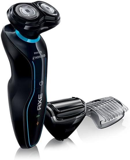 Philips Norelco Axe XA525/42 - Afeitadora (Máquina de afeitar de rotación, RQ32, 2 año(s), Negro, Azul, Batería, 1 h): Amazon.es: Hogar