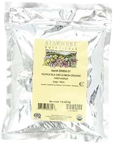 Starwest Botanicals Organic Pepper Black Medium Grind, 1-pound Bag