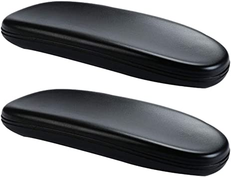 """2X High Quality Black PU Office Chair Arm Rest Pads Replacement 4/"""" Mount Holes"""
