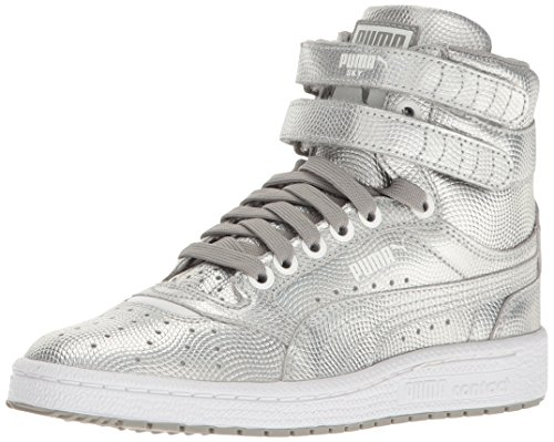PUMA Kids' Sky II Hi Holo Jr Sneaker, Silver, 7 M US Big Kid by PUMA