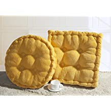 Candy Color Multi-Size Square/Round Stuffed Chair Cushion Thicken LivebyCare Filled Seat Back Cushions Square PP Cotton Insert Filling Pad for Club Pub Coffee House Bar Sofa Couch