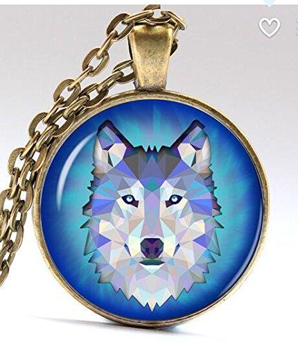 Wolf necklace Wild jewelry Wood Pendant -