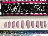 Matte Pastel Lilac Full Coverage Hand Designed Nail Set