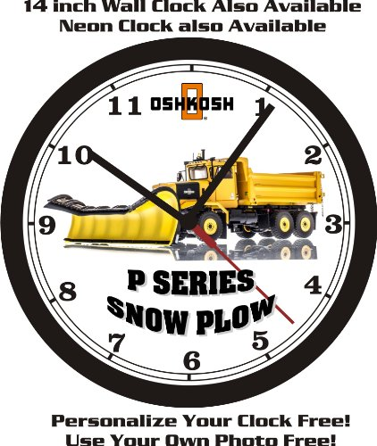 OSHKOSH P SERIES SNOW PLOW WALL CLOCK-FREE USA SHIP! - Kawasaki Plow