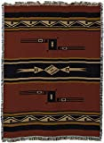 Pure Country Mesquite Earth Tapestry Throw Blanket, Red