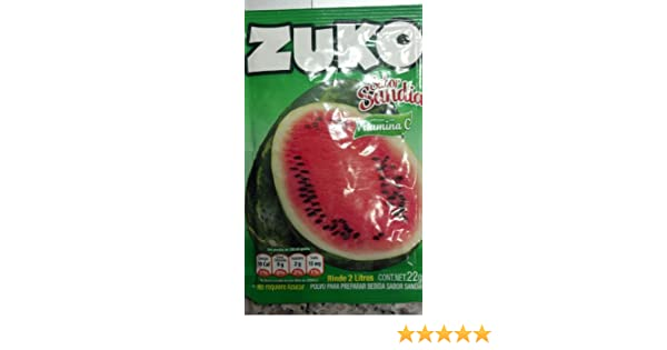 Amazon.com : Zuko Sandia (Watermelon) Drink Mix, Packets Make 2 Liters (Pack of 12) : Powdered Soft Drink Mixes : Grocery & Gourmet Food
