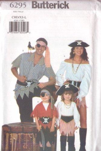 Butterick 6295 Sewing Pattern Girls Boys Pirate Costume Size 2 - 8]()