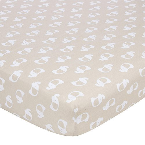 Gerber Knit Crib Sheet - Mocha Elephant