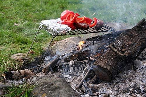 Grill da campeggio - Griglia del falò   Mini BBQ   Griglia Portatile   Griglia compatta