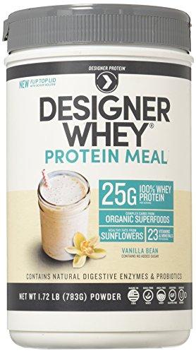 Designer Protein Designer Whey Protein Meal, Vanilla Bean, 1.72 Pound