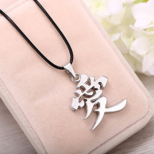 Kurop Stainless Steel Ai Love Kanji Japanese Chinese Character Necklace Pendant by Kurop (Image #2)