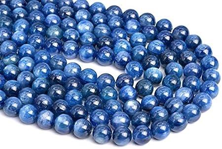 80004864-448 5-6mm Translucent Kyanite Rare Gemstone Blue Grade AAA Round Loose Beads 15.5 inch Full Strand