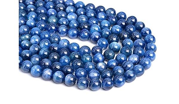Full Strand 16 Genuine Blue Kyanite Beads AB+Quality Round 10 mm Gemstone Beads 40 beads