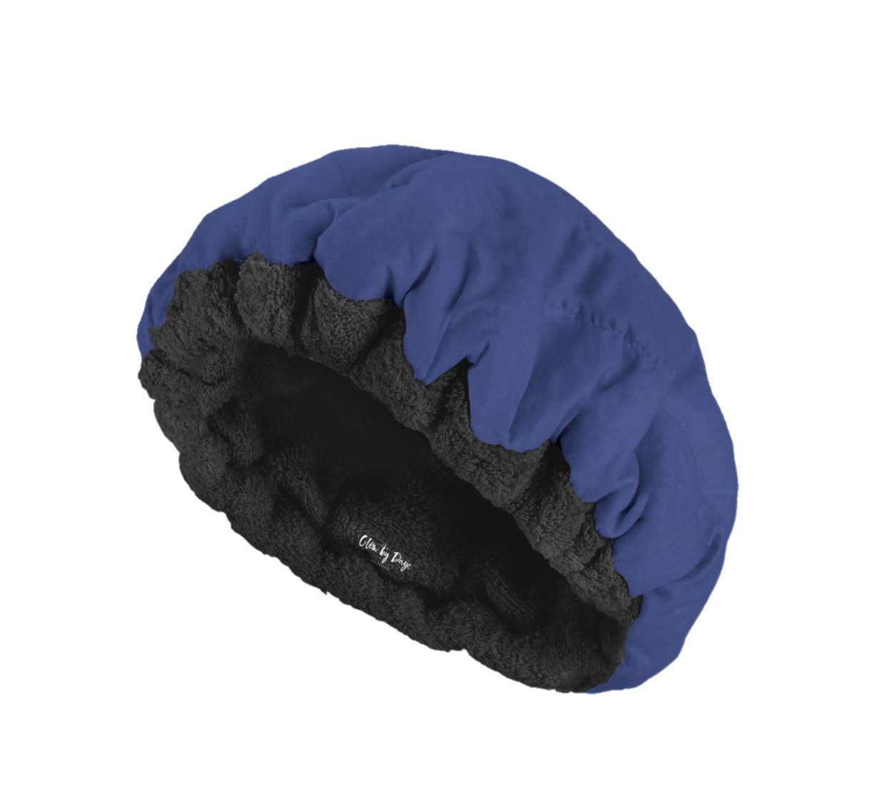 Deep Conditioning Thermal Heat Cap- Cordless, Microwavable Heat Cap for Steaming, Heat Therapy for Hair, Portable, Reversible by Glow by Daye (Navy/Black)