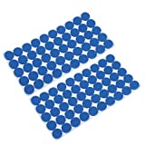 MonkeyJack 100 Pieces Multifunction Blue Self Adhesive Furniture Leg Table Chair Sofa Feet Floor Non-slip Mat Sticky Pad Rubber Floor Protector Pads Anti-Skid Scratch