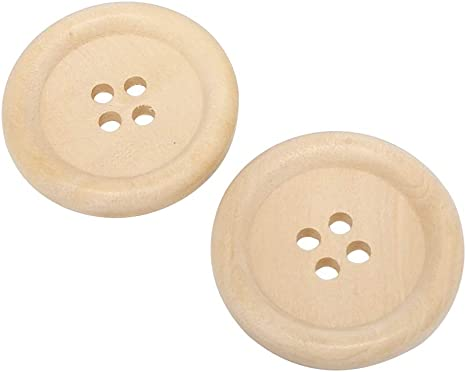 wood buttons 30mm 4 holes wood buttons