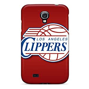Anti-Scratch Cell-phone Hard Cover For Samsung Galaxy S4 With Customized Fashion Los Angeles Clippers Pattern MansourMurray
