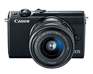 Canon EOS M100 w/ 15-45mm Lens - Wi-Fi, Bluetooth, and NFC enabled (Black)