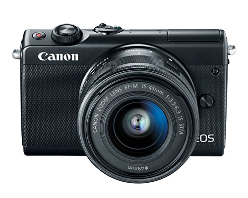 Canon EOS M100 Mirrorless Camera w/ 15-45mm Lens – Wi-Fi, Bluetooth, and NFC Enabled (Black)