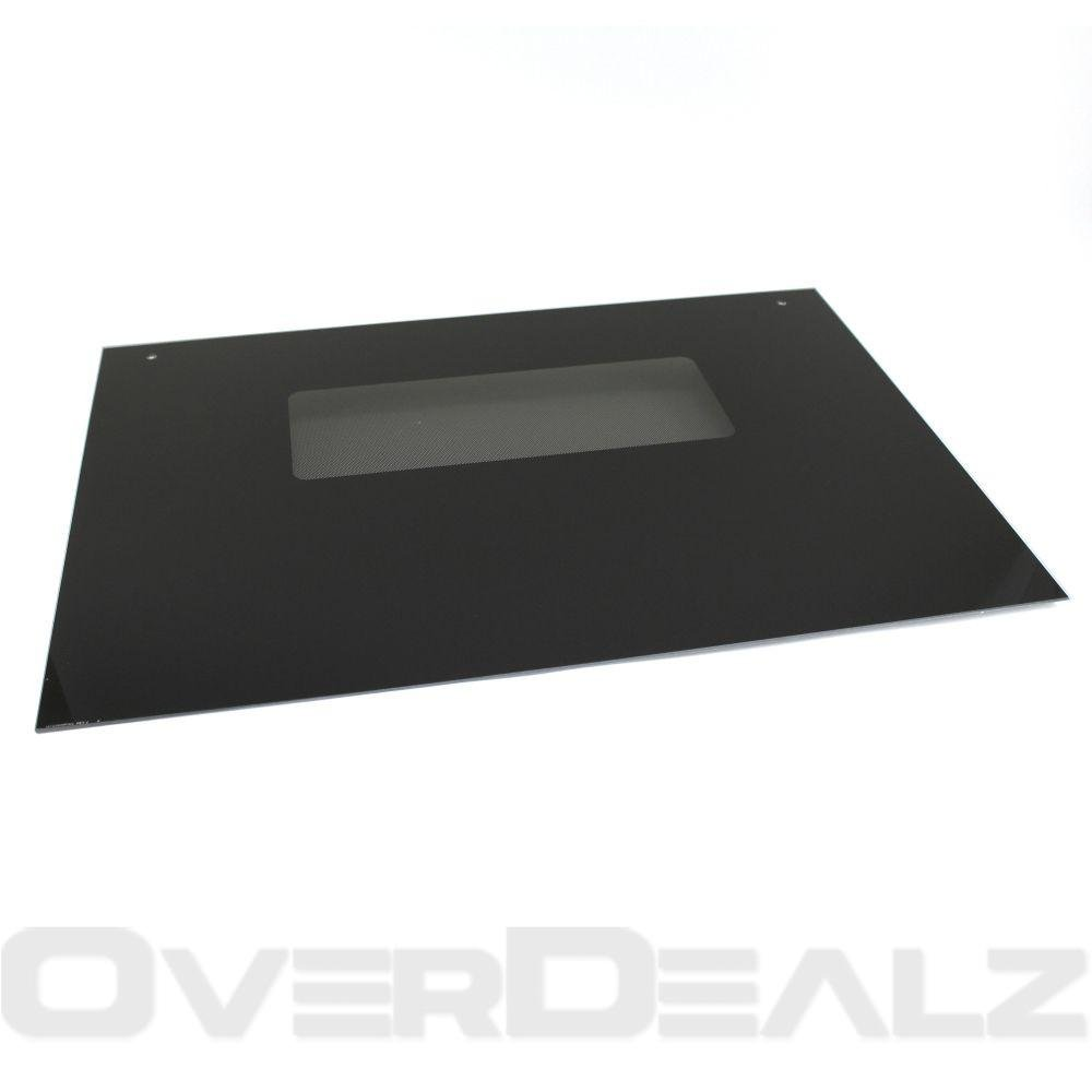 GE WB57T10110 Outer Oven Door Glass - Black