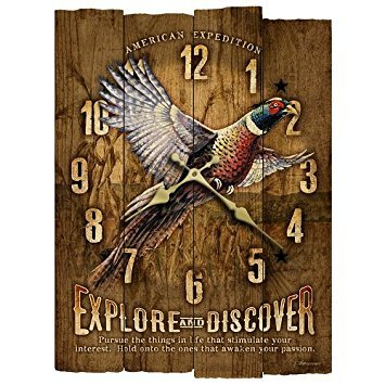 - American Expedition Pheasant Wooden Wall Clock