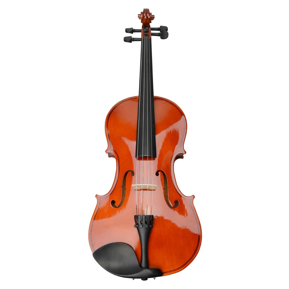 Back to School Basswood Acoustic Viola + Case + Bow + Rosin Xmas (15'', Natural)