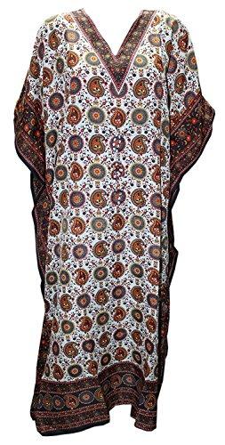 Floral Print Kaftan - Odishabazaar Womens Plus Size Floral Print Kaftan Dress Dori On Waist (#2010-1)