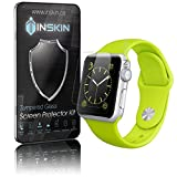 Inskin Ultra Slim 0.3mm HD Tempered Glass Screen Protector kit for Apple® Watch (42mm). Polished edges. Oleophobic coating. 9H Hardness. Inskin Retail Packaging.