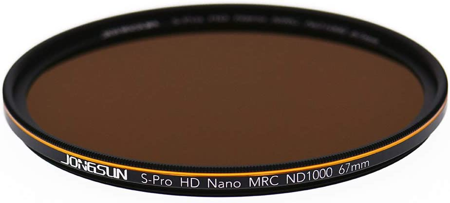 ND1000 JONGSUN ND1000 67mm ND Filter S-PRO HD Neutral Density Lens Filter,MRC 18-Layer Nano Multicoated 3.0 10-Stop Schott B270 Optical Glass