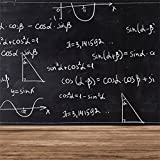 CSFOTO 4x4ft Background for Math Formulas on Chalkboard Photography Backdrop Back to School Physics Education Science Classroom Homework Teaching Black Board Photo Studio Props Polyester Wallpaper