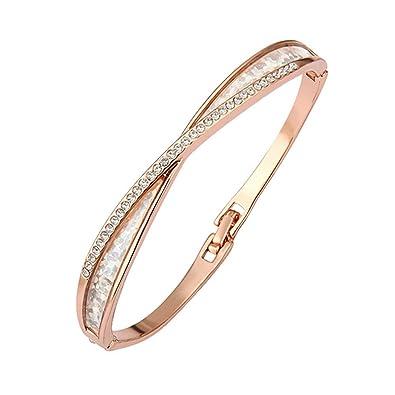 Bracelet jonc , Plaqué or rose 750/00 18K carats , Bijou fantaisie haut de