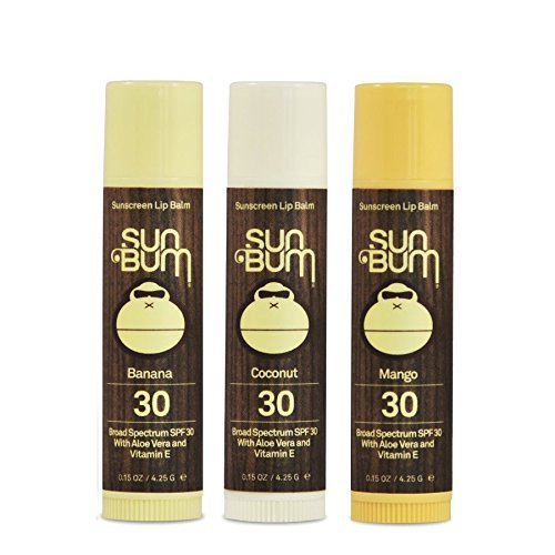 Sun Bum SPF30 Lip Balm Banana, Coconut, Mango-3 Pack by Sun Bum