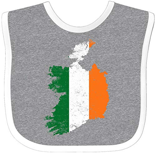 Inktastic - Irish Map Flag Baby Bib Heather/White 2f098