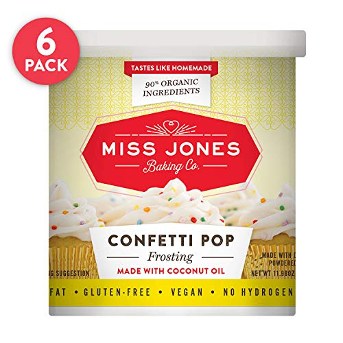 Miss Jones Baking 90% Organic Birthday Buttercream Frosting, Perfect for Icing and Decorating, Vegan-Friendly: Confetti Pop (Pack of 6) by Miss Jones Baking (Image #16)