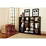 Better Homes and GardensBH15-084-199-09 12-Cube Organizer, Solid Black Color