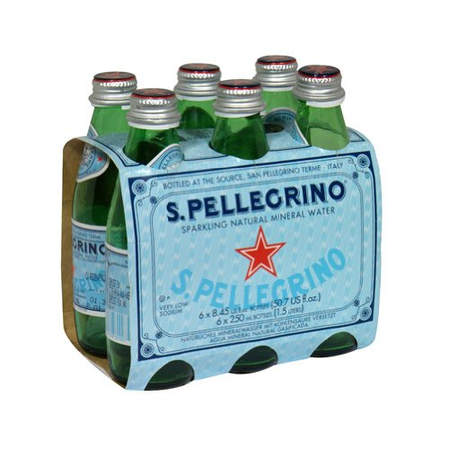 San Pellegrino Sparkling Mineral Water, 8.5 Ounce (24 Glass Bottles)