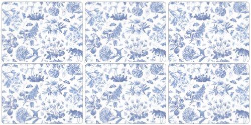 Botanic Blue Placemats - Portmeirion Botanic Blue 6 Placemats 30.5cm by 23cm