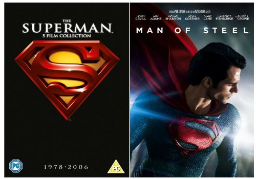 The Complete Superman DVD [6 Discs] Collection: Superman 1, Superman 2, Superman 3, Return To Quest, Superman Returns, Man of Steel + Extras + Features
