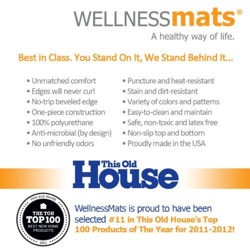 WellnessMats Anti-Fatigue Trellis Motif Kitchen Mat, 72 Inch by 24 Inch, Grey by WellnessMats (Image #4)