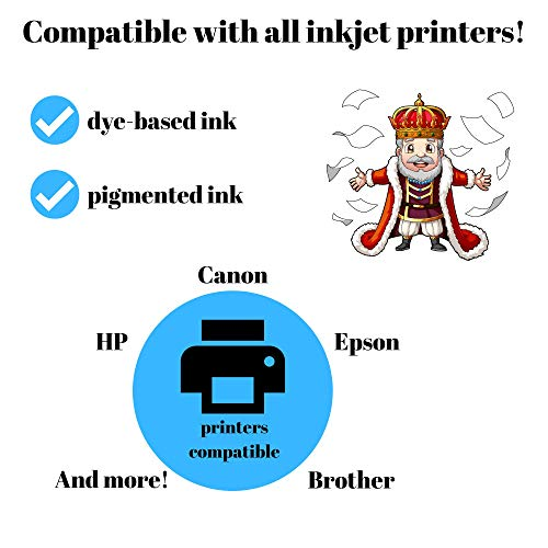 10 Sheets Printable Vinyl Royal Elements Clear Waterproof Sticker Paper for