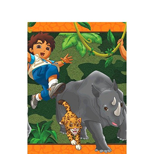 Amscan Diego's Biggest Rescue Party Table Cover Tableware, Plastic, 54