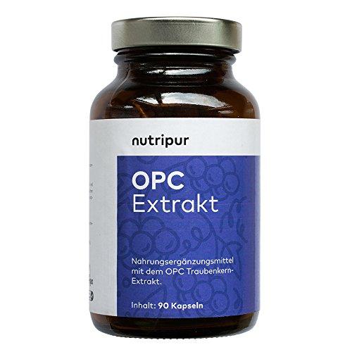 Nutripur OPC Traubenkernextrakt Kapseln - 90 vegane Kapseln aus Traubenkern-Extrakt, ohne künstliche Zusätze