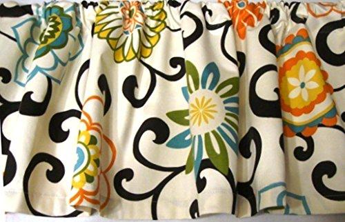 Waverly Pom Pom Confetti Valance Window Topper Bright - Fabric Waverly Decorator