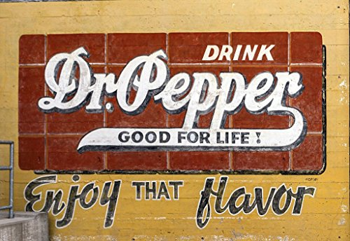 Dr Pepper Museum - Waco, TX Photo - Vintage Dr. Pepper advertisement on an exterior wall of the Dr Pepper Museum in a former plant that bottled the soft drink in Waco, Texas - Carol Highsmith