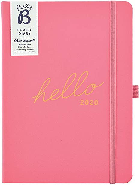 Blue Hello Family A5 Planner Diary 2020 Busy B