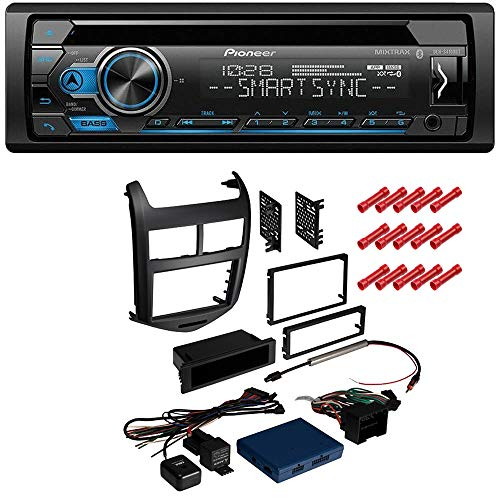 CACHÉ KIT551 Bundle with Complete Car Stereo Installation Kit with Receiver  - Compatible with 2012-2016 Chevrolet Sonic W/Jet Black Dash - Single Din