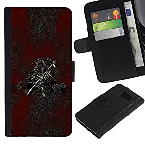 All Phone Most Case / Oferta Especial Cáscara Funda de cuero Monedero Cubierta de proteccion Caso / Wallet Case for Samsung Galaxy S6 // Grim Reaper Death