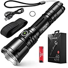Professional Tactical Flashlight 3200 Lumens Klarus XT11X Flashlight LED Rechargeable Police Flashlight USB Rechargeable 18650 IMR Battery (3.0 Upgraded, 3200 Lumens)